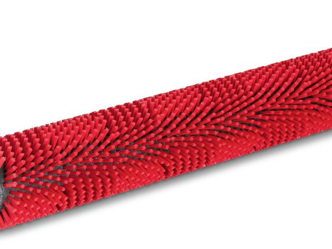 Válcový kartáč pro podlahový mycí stroj 450 mm, střední, červený, střední, červený, 450 mm